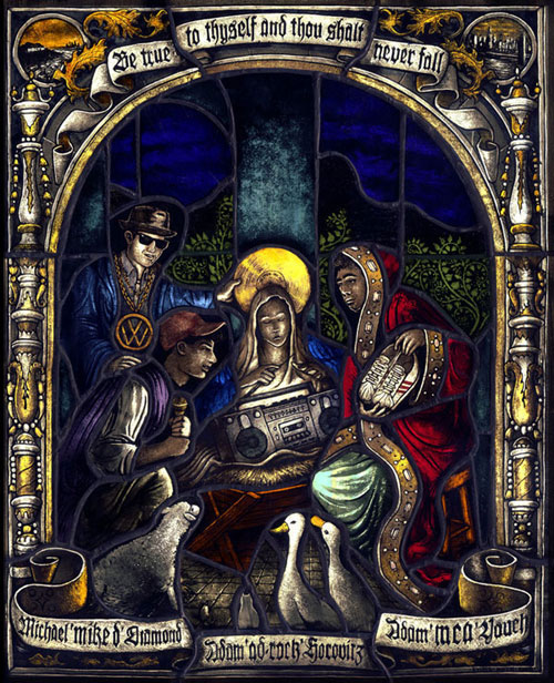 "The Adoration Of The Magi                  Stained Glass Window          12""x15"""